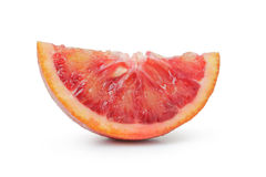 Segment of ripe blood red orange isolated Royalty Free Stock Photo