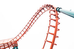 A segment of a roller coaster Stock Images