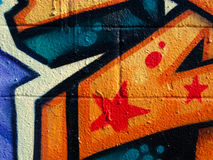 Segment van graffiti Royalty-vrije Stock Foto's