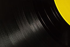 Segment of vinyl record Royalty Free Stock Photo