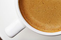 Segment of white cup of espresso Royalty Free Stock Photo