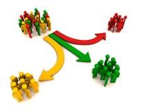 Segmentação ou segregação de cliente ilustração royalty free