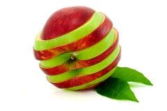 Segmenta a maçã. Foto de Stock