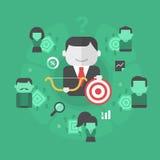 Segmentación de clientes stock de ilustración