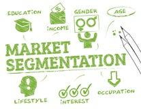Segmentación de mercado stock de ilustración