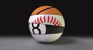 Segmentado em volta da esfera dos esportes Fotografia de Stock Royalty Free