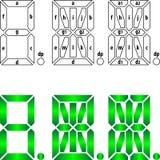 Segmental labeling for 7-, 14-, and 16-segment dis Stock Photos
