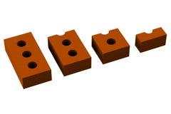 Segmentatiebakstenen stock illustratie