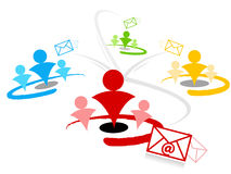 Segmentation de bulletin d'information d'email photographie stock