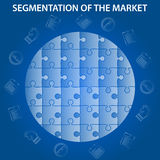 Segmentation des Marktes infographic Stockfotos
