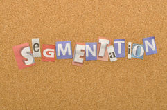 Segmentation Word Made From Newspaper Letter Stock Photo