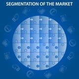 Segmentazione del mercato infographic fotografie stock