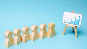 Segmentazione di vendita Analisi del mercato Il concetto di amministrazione delle risorse umane in un gruppo di affari Personale  immagini stock libere da diritti