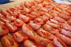 Segmente der Tomaten Stockfotos
