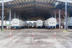 Segmente von Soyuz-Raketen in der Guayana-Raum-Mitte stockfoto