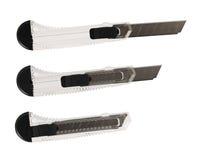 Segmented blade utility knife isolated Royalty Free Stock Photos