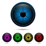 Segmented buttons Royalty Free Stock Photography