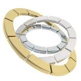 Segmented circle composition Royalty Free Stock Photos