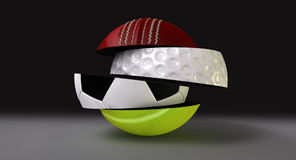 Segmented Fragmented Round Sports Ball Stock Photos