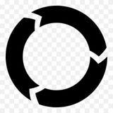 Segmenterad cirkelpil Rund pilsymbol Process progres, r arkivbilder