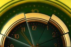 segmenterad tid Arkivfoto