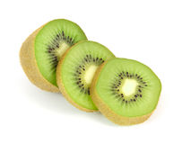 Segmenti affettati della frutta di Kiwi Fotografia Stock Libera da Diritti