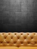 Segmentläder Sofa Upholstery With Copyspace Royaltyfria Foton