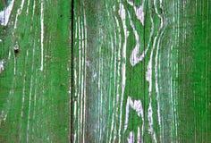 Segmento della plancia di legno della vecchia porta verde fotografia stock libera da diritti