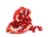 Segmento di pomergranate con i semi Immagini Stock