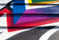 Segmento dos grafittis Fotografia de Stock
