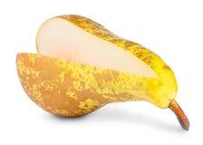 Segmento giallo della pera senza Immagine Stock