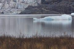 Segmento quebrado del iceberg del glaciar de Mendenhall Fotos de archivo