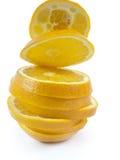 Segmentos anaranjados Imagen de archivo libre de regalías