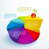 Segmentos brillantes del círculo de Infographics Fotos de archivo