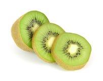 Segmentos cortados da fruta de quivi Fotografia de Stock Royalty Free