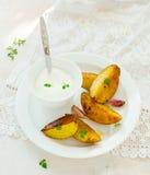 Segmentos da batata cozida Fotos de Stock Royalty Free