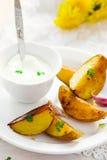 Segmentos da batata cozida Fotografia de Stock