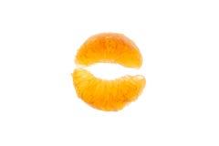 Segmentos de la mandarina Fotografía de archivo libre de regalías