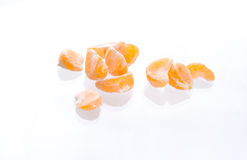 Segmentos do mandarino Imagens de Stock