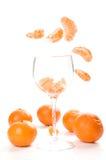 Segmentos do Tangerine Fotografia de Stock