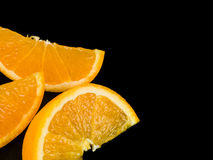 Segmentos suculentos da laranja do fruto fresco Fotos de Stock Royalty Free