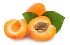 Segments an apricot Stock Images