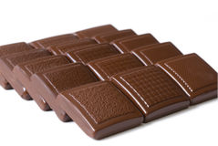 Segments of chocolate Royalty Free Stock Photography