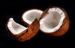 Segments of coconut Royalty Free Stock Photo