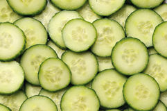 Segments of cucumbers. Full frame Stock Images