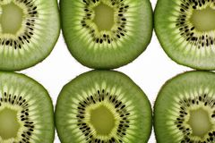 Segments of fruit of a kiwi Royalty Free Stock Photo