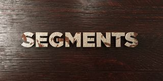 Segments - grungy wooden headline on Maple  - 3D rendered royalty free stock image Royalty Free Stock Photography