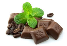Segments Of Chocolate Stock Images