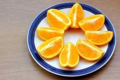 Segments oranges Photographie stock