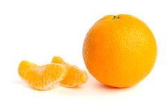 segments oranges Photos libres de droits